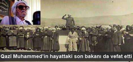 Qazî Muhammed'in hayattaki son bakanı da vefat etti foto