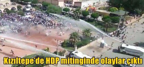 Kızıltepe'de HDP mitinginde olaylar çıktı