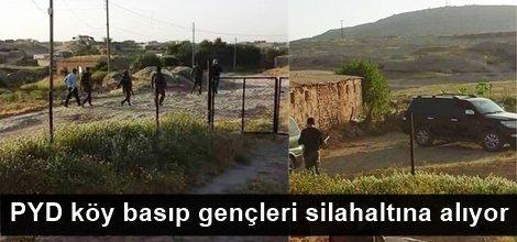 PYD köy basıp gençleri silahaltına alıyor foto