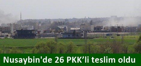 Nusaybinde 26 PKK'li teslim oldu