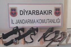 Diyarbakır'da mühimmat ele geçirildi