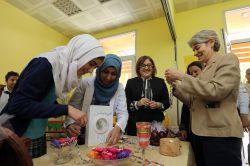 UNESCO Genel Direktöründen Suriyeli öğrencilere ziyaret