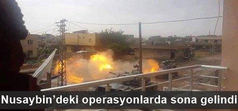 Nusaybin'deki operasyonlarda sona gelindi