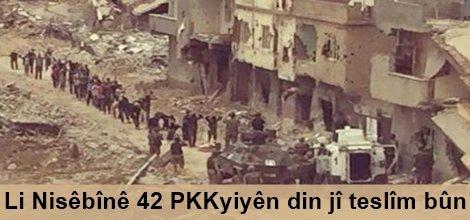 Li Nisêbînê 42 PKKyiyên din jî teslîm bûn