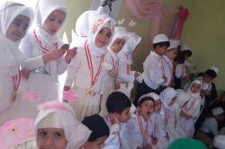 Minikler Kur'an-ı Kerim'i hatmetti