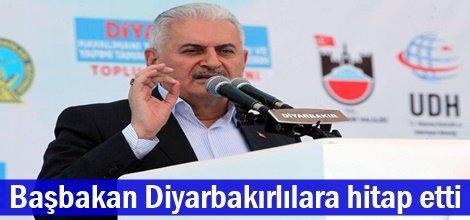 Başbakan Diyarbakırlılara hitap etti