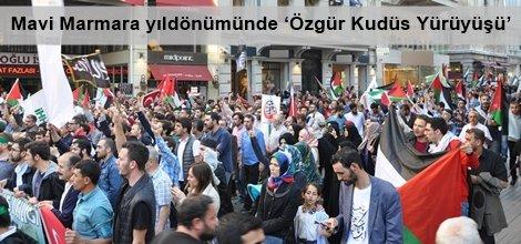 Mavi Marmara yıldönümünde 'Özgür Kudüs Yürüyüşü'