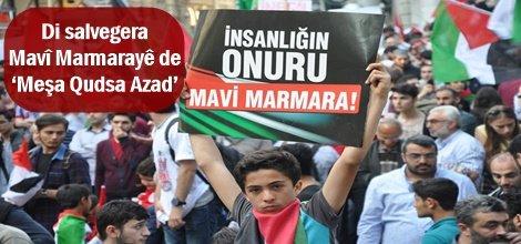 Di salvegera Mavî Marmarayê de 'Meşa Qudsa Azad'