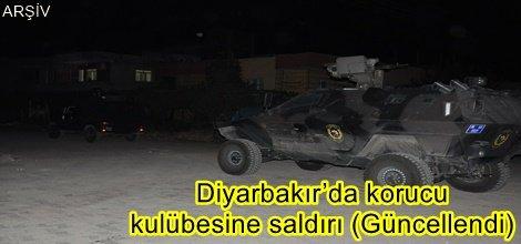 Diyarbakır'da korucu kulübesine saldırı (Güncellendi)