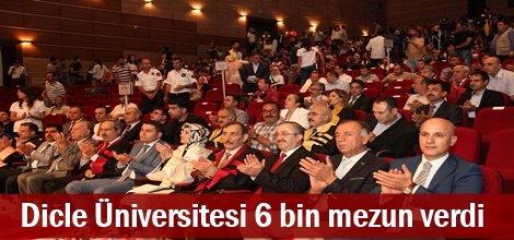 Dicle Üniversitesi 6 bin mezun verdi