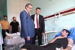 Şırnak Valisi patlamada yaralananları ziyaret etti foto