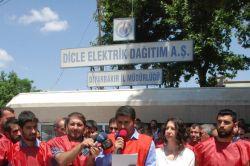 Dicle EDAŞ işçilerinden grev video