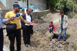 Bingöl Alatepe köyü sakinleri üst yapıdan önce derenin ıslahını istiyor video foto