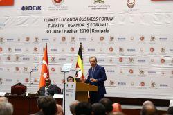 Cumhurbaşkanı Erdoğan Uganda'da iş adamlarına hitap etti