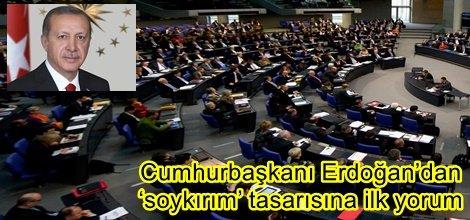 Cumhurbaşkanı Erdoğan'dan 'soykırım' tasarısına ilk yorum