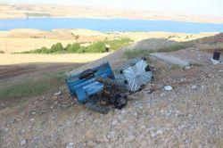 Adıyaman Kahta'da çapa motoru şarampole yuvarlandı: 1 ölü video foto