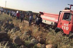 50 dönümlük buğday tarlası kül oldu
