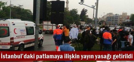 İstanbul'daki patlamaya ilişkin yayın yasağı getirildi
