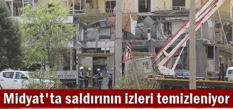 Midyat'ta saldırının izleri temizleniyor