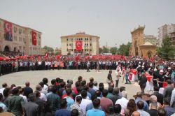 Midyat'taki saldırıda hayatını kaybedenler için tören düzenlendi foto