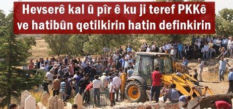 Hevserê kal û pîr ê ku ji teref PKKê ve hatibûn qetilkirin hatin definkirin