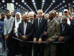 Serokomar Erdogan beşdarî merasîma cenazeya Muhammed Elî bû