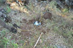 Sason'un Heybeli köyü Küçük Tepe bölgesinde PKK'ye ait patlayıcı deposu bulundu foto