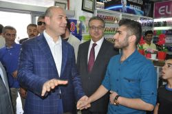 Bakan Soylu Silopi'de inceleme ve ziyaretlerde bulundu