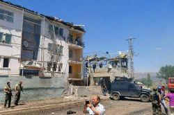 Tunceli'de Ovacık askeri lojman yakınlarında patlama-foto