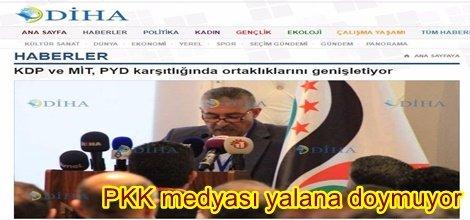 PKK medyası yalana doymuyor