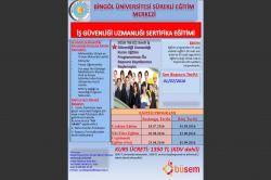 Bingöl Üniversitesi'nde C sınıfı iş güvenliği uzmanlığı kursu açılacak