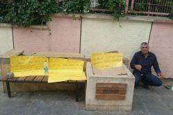 Diyarbakır'da Belediye işçisinden açlık grevi eylemi