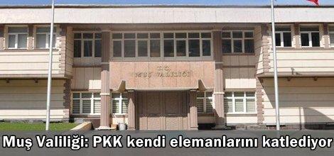 Muş Valiliği: PKK kendi elemanlarını katlediyor