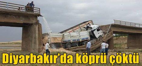 Diyarbakır'da köprü çöktü