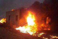 Anız yangınında 4 ev kül oldu