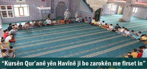 """""""Kursên Qur'anê yên Havînê ji bo zarokên me firset in"""""""