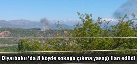 Diyarbakır'da 8 köyde sokağa çıkma yasağı ilan edildi