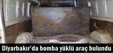 Diyarbakır'da bomba yüklü araç bulundu