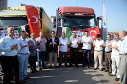 Suriye'deki mazlumlara 11 yardım TIR'ı gönderildi foto