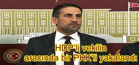 HDP'li vekilin aracında bir PKK'li yakalandı