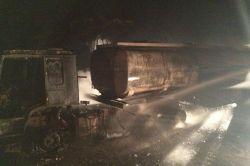 Batman Kozluk'ta yakıt tankeri yandı foto