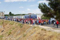 Ömerli'de PKK'ye tepki yürüyüşü