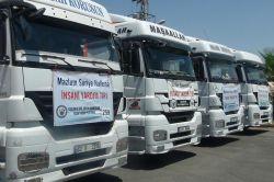 Suriye'ye 4 yardım TIR'ı daha gönderildi