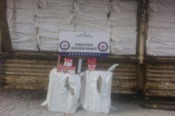 Ağrı'da 21 ton kaçak nargile tütünü ele geçirildi