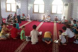 Nusaybinli çocuklar her şeye rağmen Kur'an dersini aksatmıyor