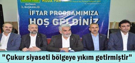 Yapıcıoğlu: Çukur siyaseti bölgeye yıkım getirmiştir