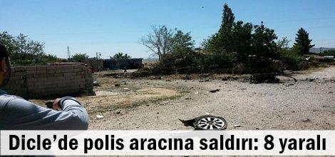 Dicle'de polis aracına saldırı: 8 yaralı