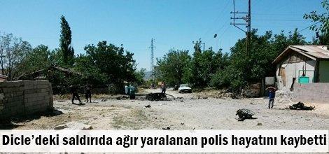 Dicle'deki saldırıda ağır yaralanan polis hayatını kaybetti