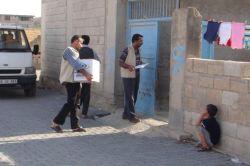 IHO-EBRAR Birecik'te muhtaç ailelere yardımda bulundu