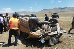 Tutak'ta kaza: 1 ölü, 1 yaralı